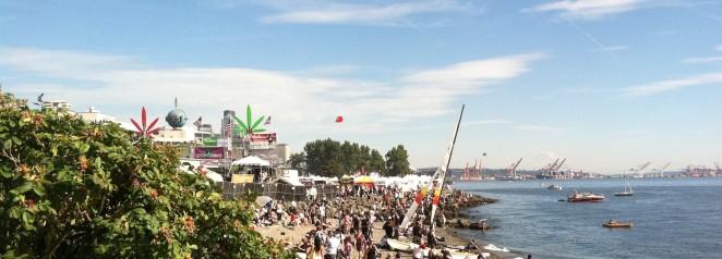 Seattle Hemp Fest - beach view