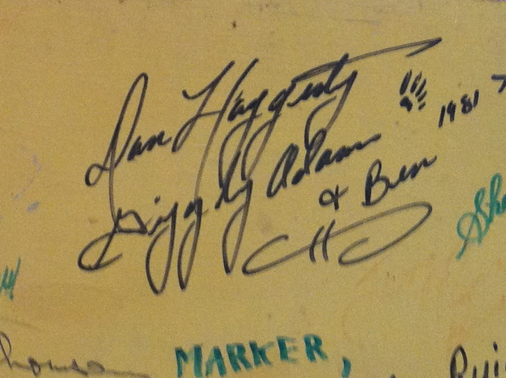Dan Haggerty | Grizzly Adams and Ben signature