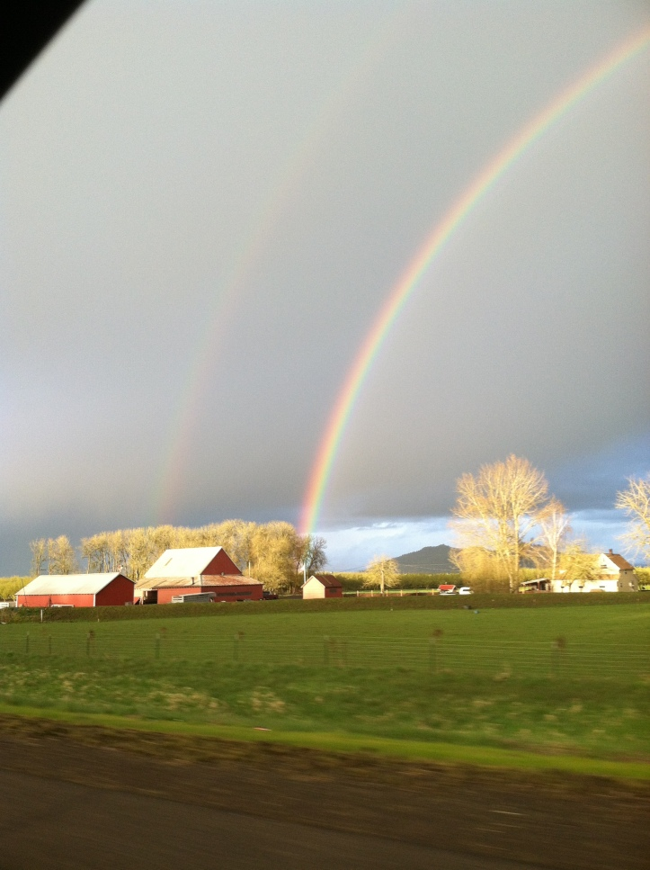 Double Rainbow over Farm