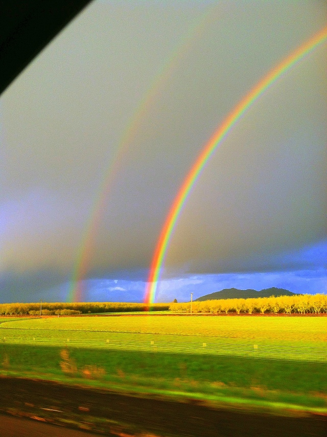 Double Rainbow over Field