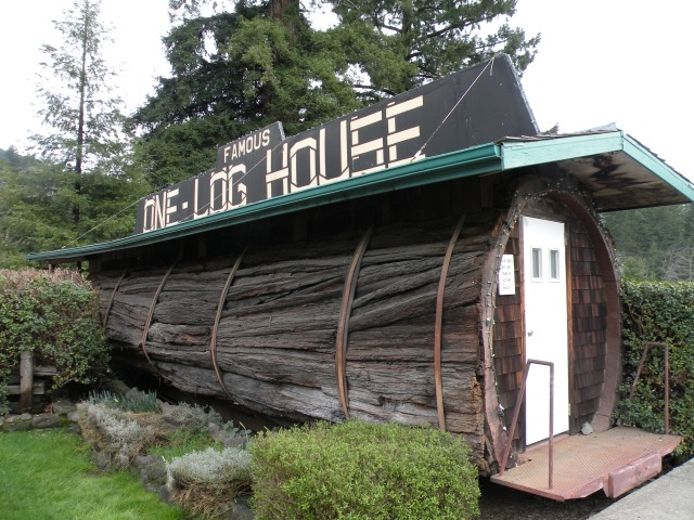 Famous One Log House - Redwood Forest, California