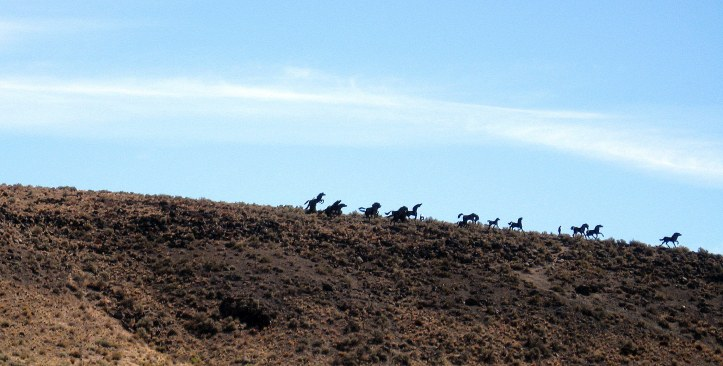 Wild Horse Sculpture near Vantage, Washington