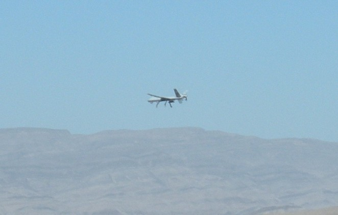 Drones flying at Creech AFB