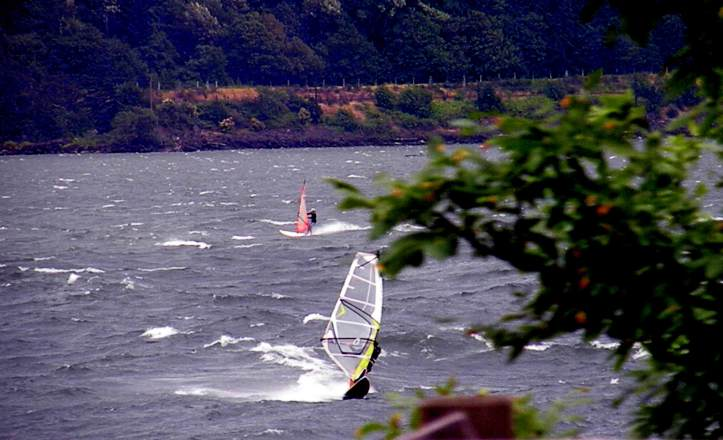windsurfing on the Columbia River
