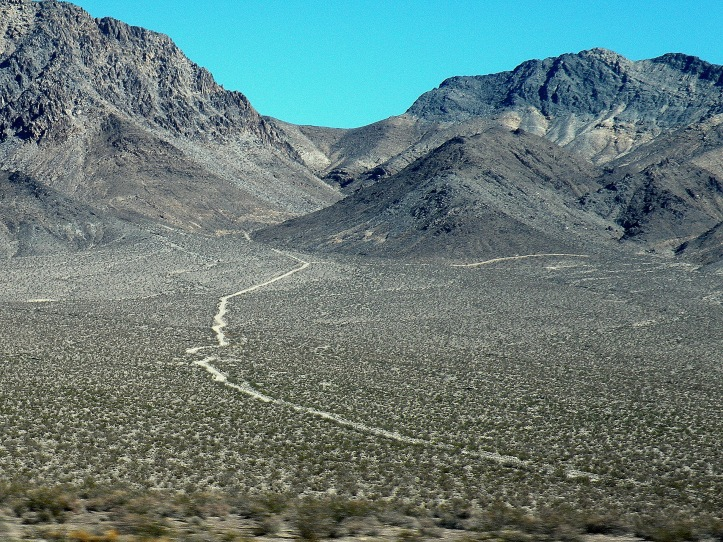 It goes somewhere...    Dirt Road entering Nevada Test Site